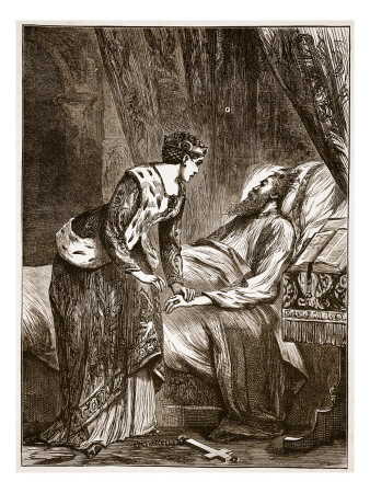 Alice_Perrers_at_the_Deathbed_of_Edward_Iii_Giclee_Print